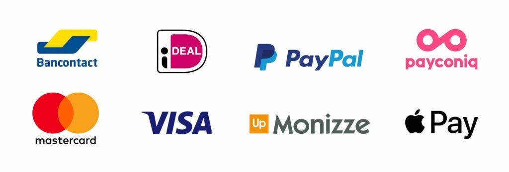 Logos van diverse betalingsmethoden
